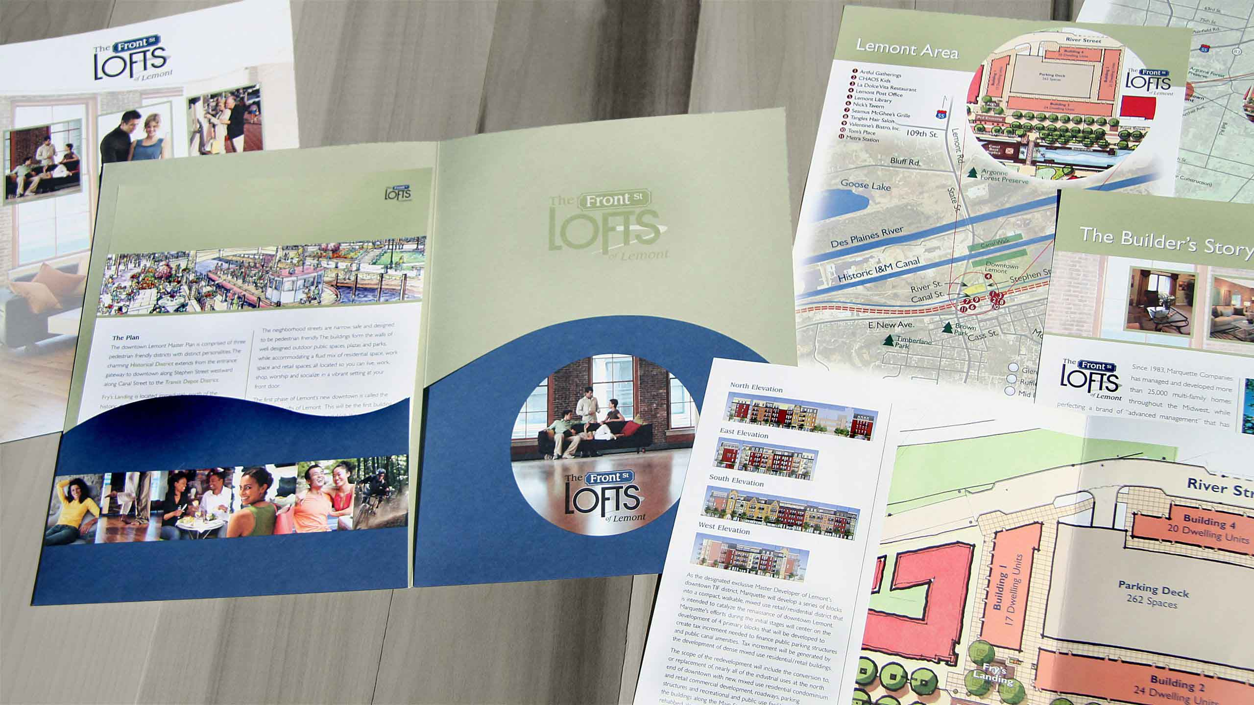 Marquette Companies Lofts of Lemont Development Collateral Material